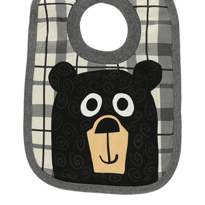 Bear Hug Grey Bib