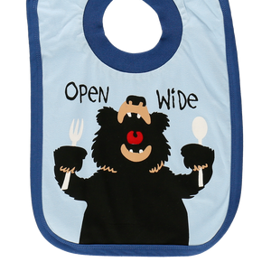 Open Wide Bear Blue Bib