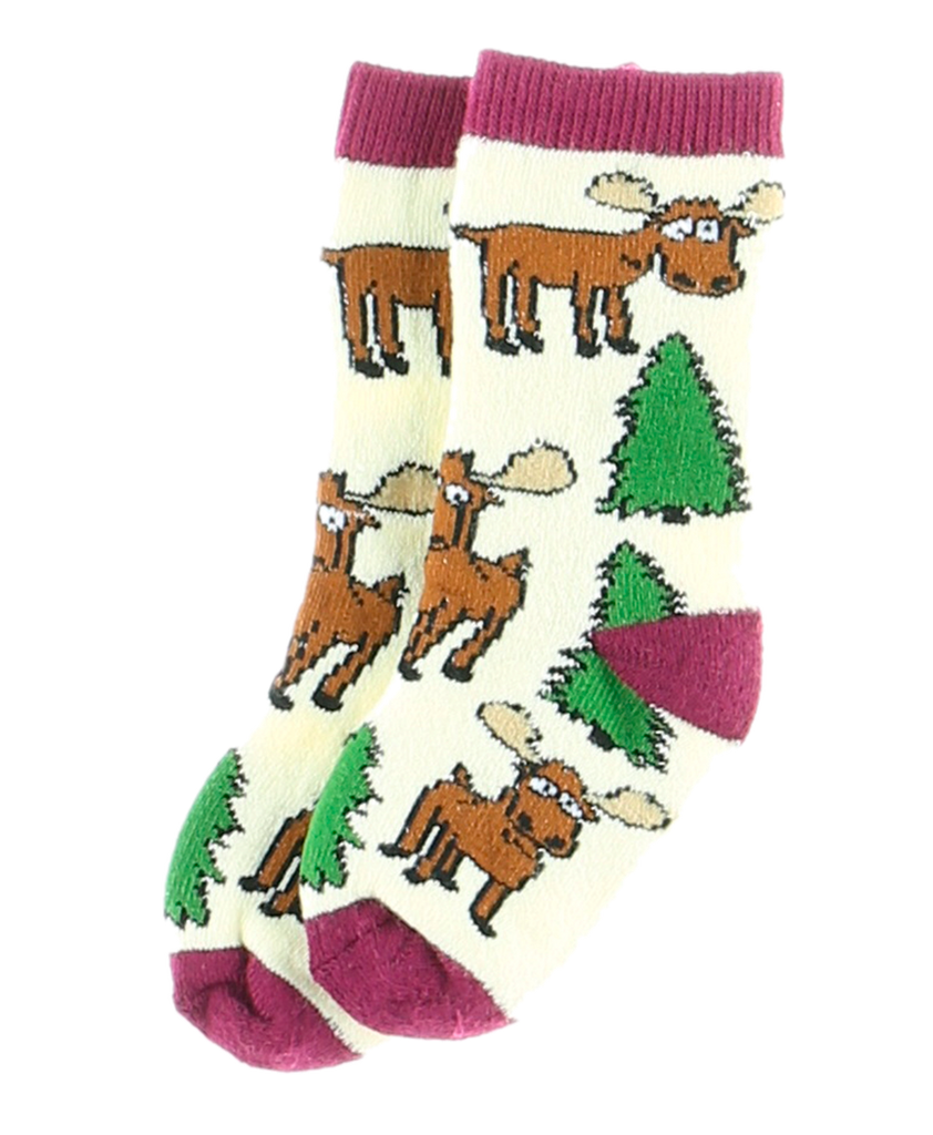 Moose Hug Purple Infant Sock