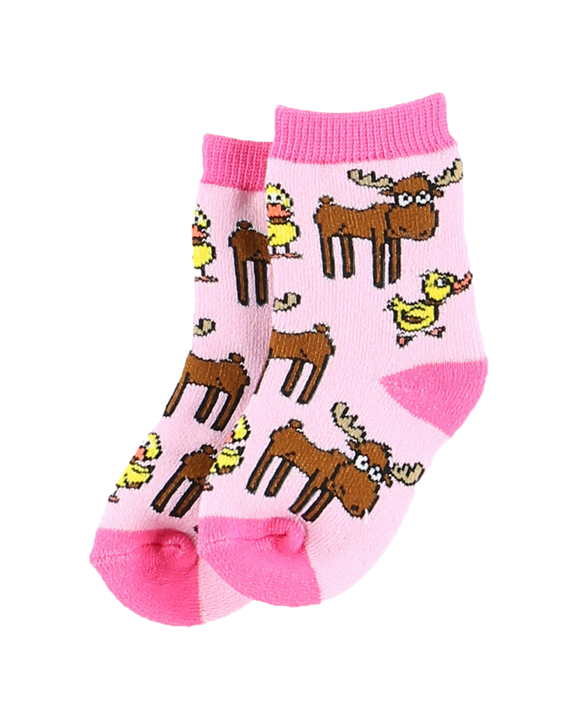 Girl Duck Moose Infant Sock