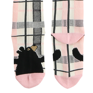 Bear Hug Pink Kid Sock