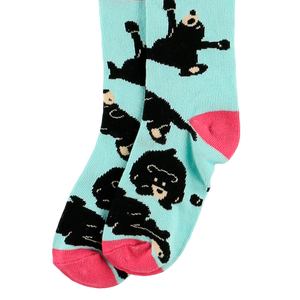 Bearly Awake Blue Sock