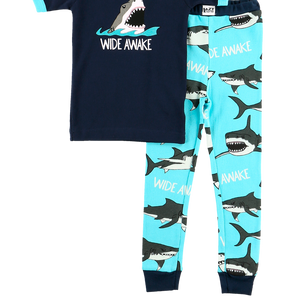 Wide Awake Shark PJ Set