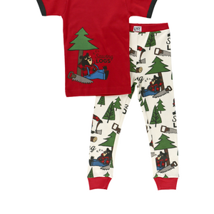 Sawing Logs Short Sleeve PJ Set