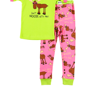 Don't Moose Pink PJ Set