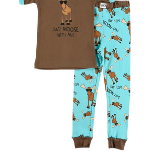 Don't Moose Blue PJ Set