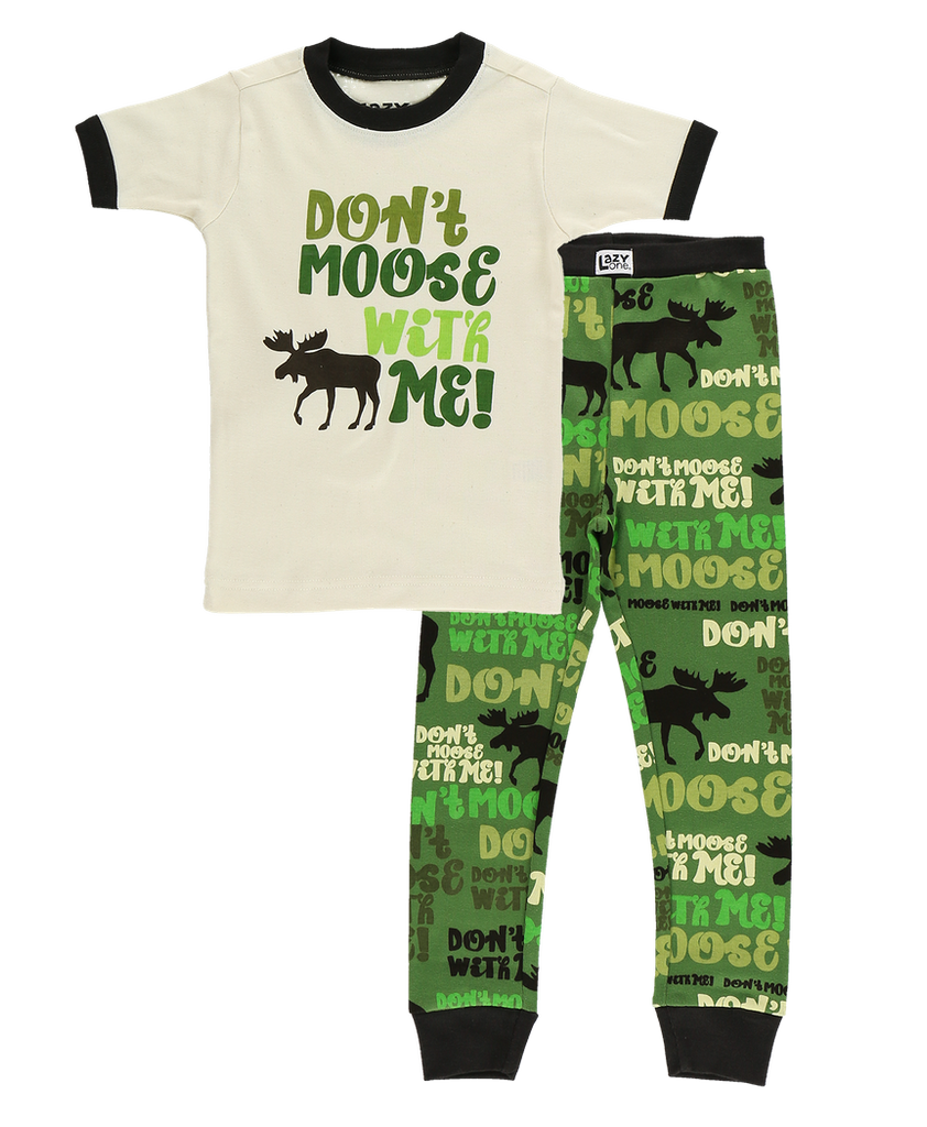 Don't Moose W Me Green PJ Set