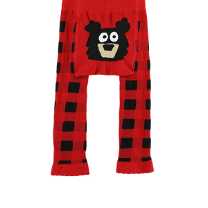 Red Plaid Bear Infant Legging