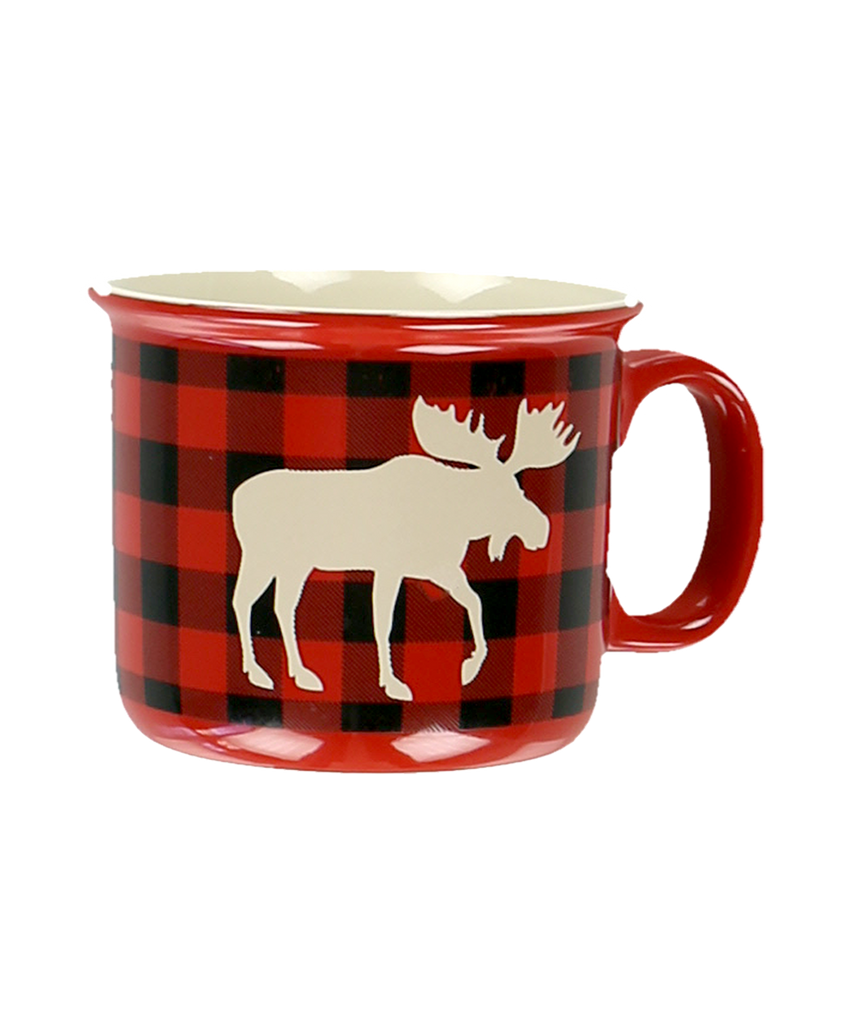 Moose Plaid Mug