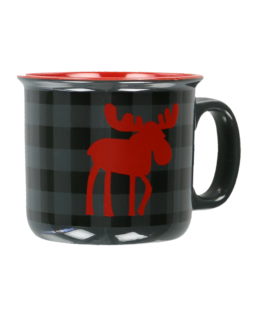 Grey Plaid Mug
