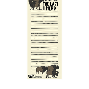 Last I Herd Notepad