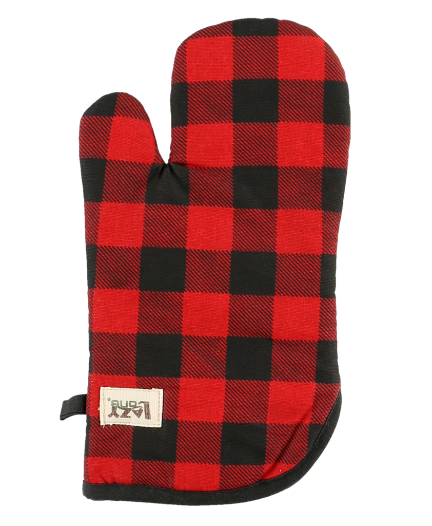Red Plaid Oven Mitt