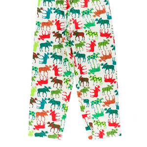 Patterned Moose PJ Pants