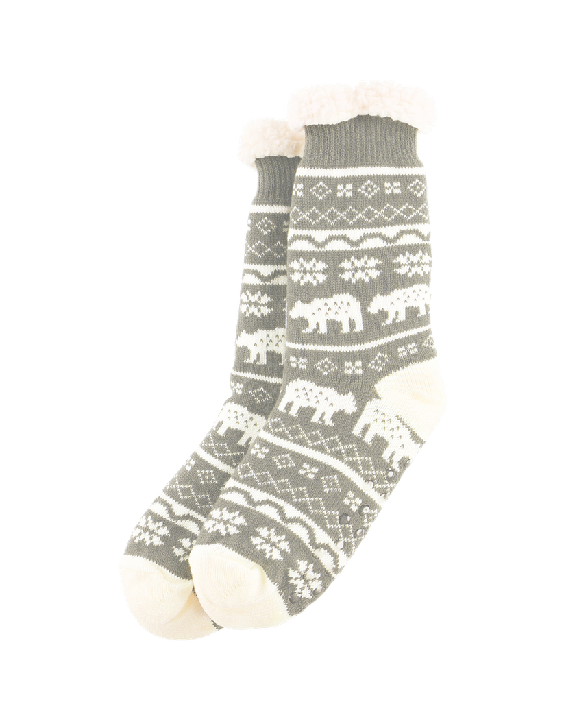 Nordic Bear Plush Sock