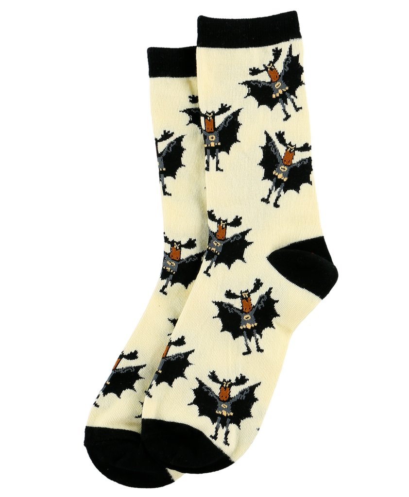 Bat Moose Crew Sock