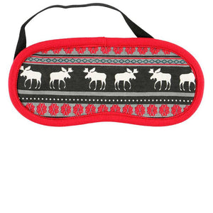 Moose Fair Isle Sleep Mask