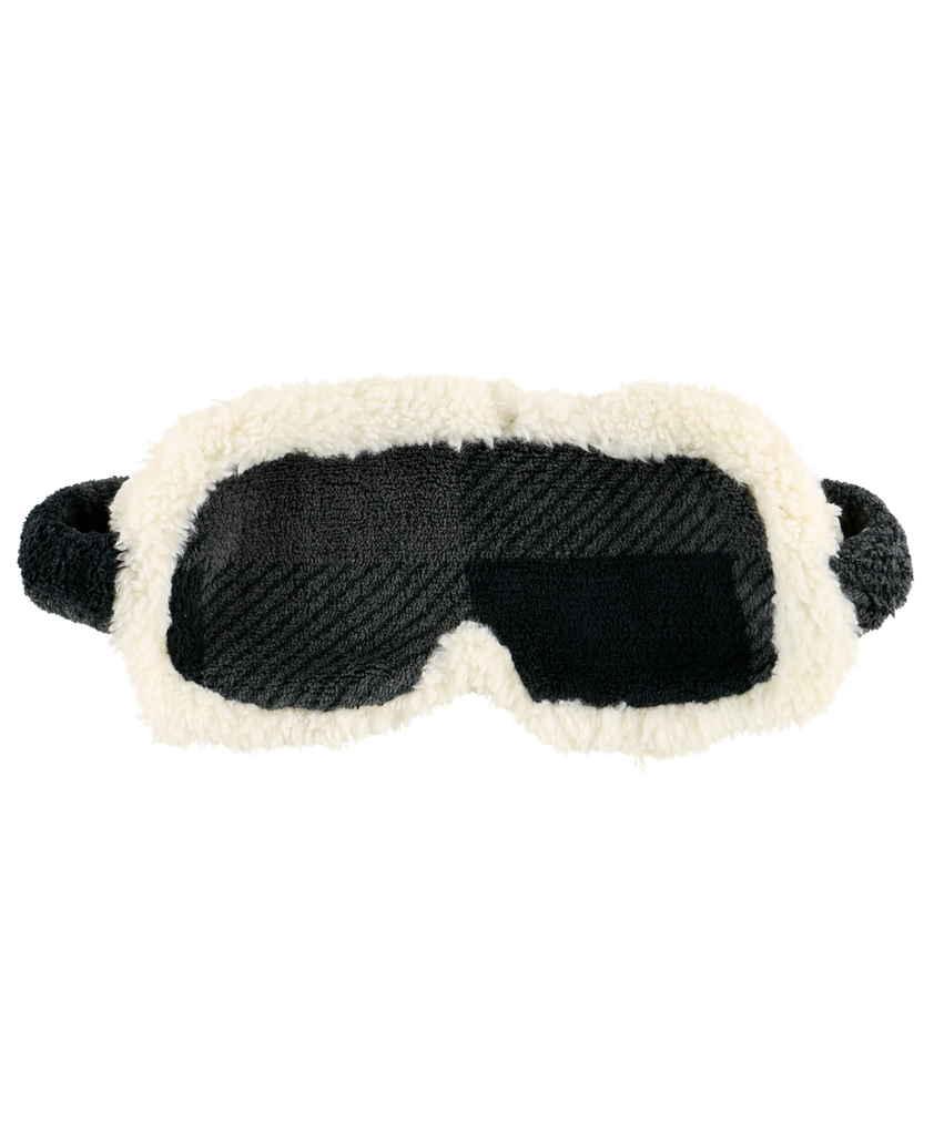 Grey Plaid Sleep Mask