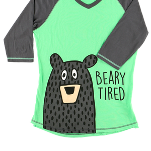 Beary Tired PJ Tall Tee