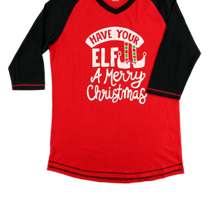 Elf Plaid PJ Tall Tee