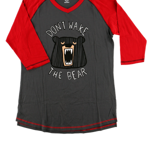 Don't Wake Bear PJ Tall Tee