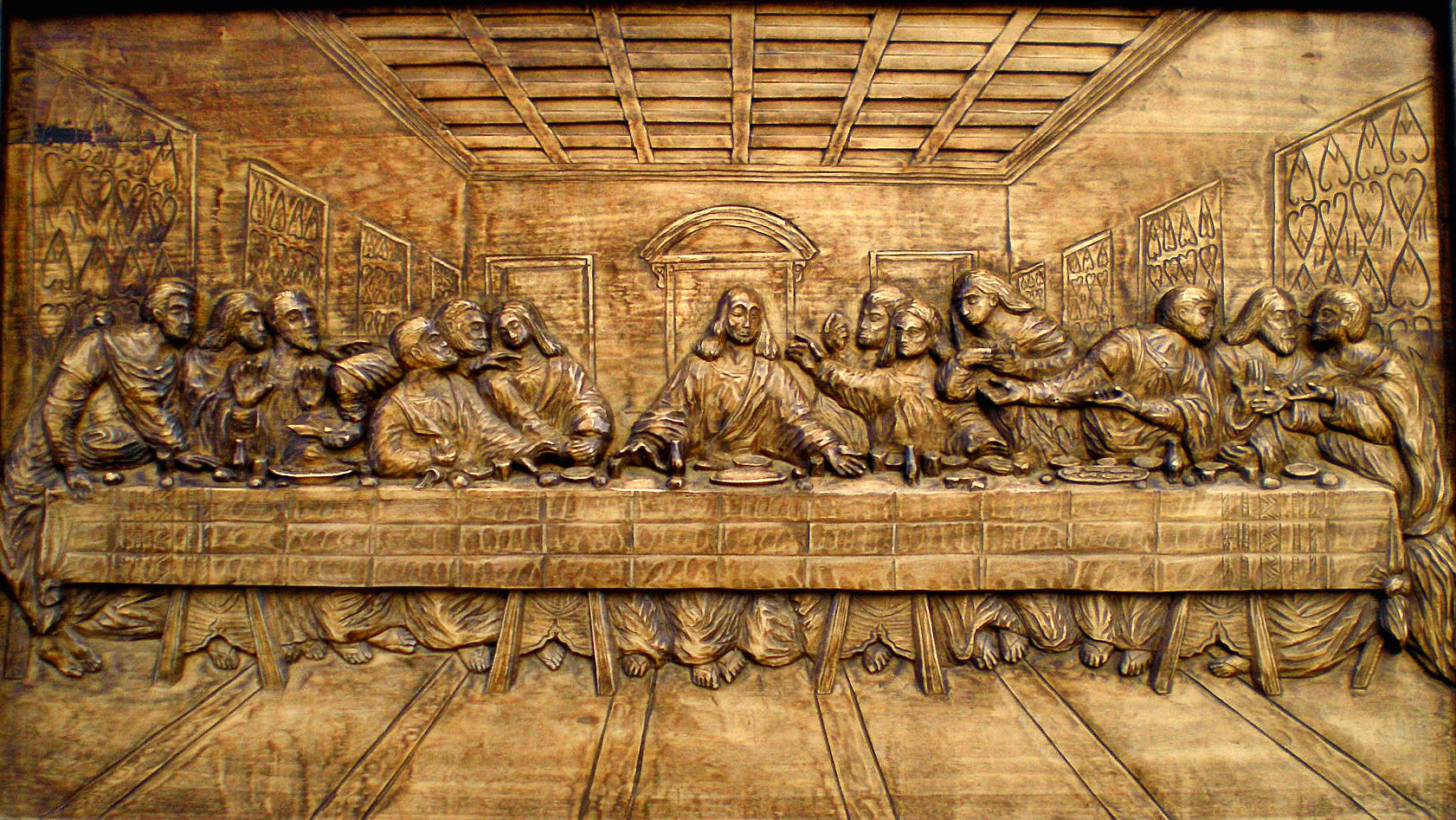 The last supper wood carving by yordanovi art