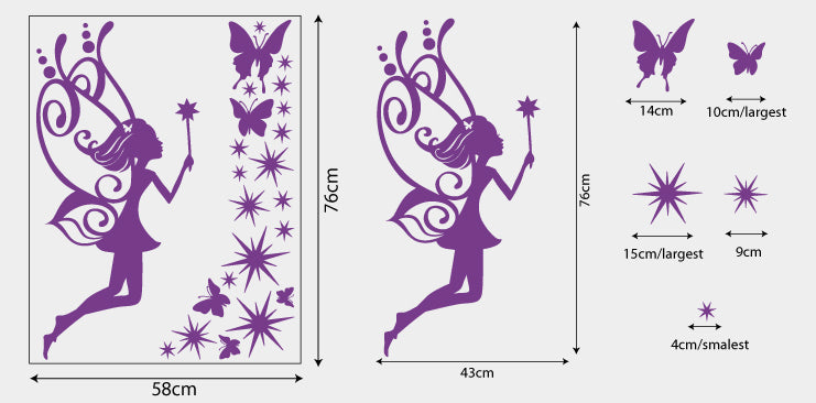 StickTak Stickers fairy vinyl decal sticker