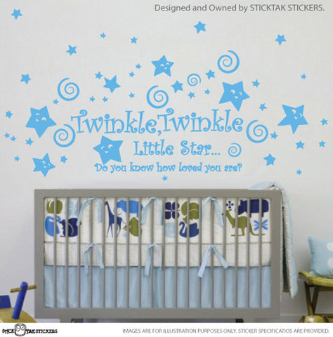 Twinkle Twinke Little Star Rhyme & Smily Stars