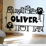 Personalised Funky Birds Decal Sticker