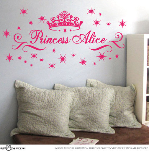 Princess Large Custom Name with Tiara
