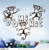 Personalised Cheeky Monkey Decal Set