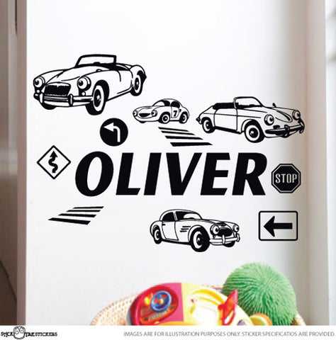 Personalised Decal Sticker Set Cars