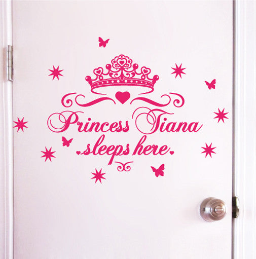 Princess Sleeps Here Wall or Door Sticker