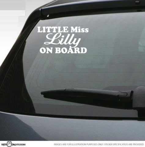 Little Miss On Board Car Sticker