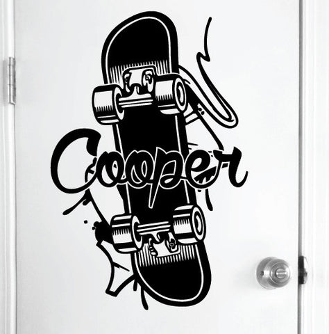 Large Personalised Skateboard Sticker