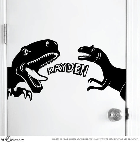 Dinosaurs Door Sticker with Name