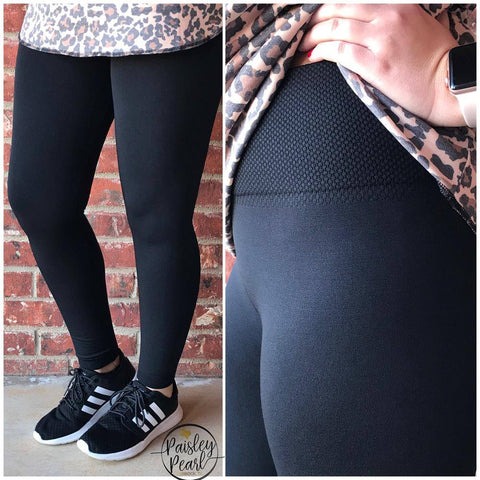 BLACK FRIDAY STEAL-Tummy Control Fleece Lined Leggings