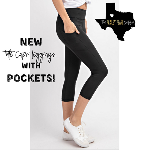Tate Capri Leggings with POCKETS!