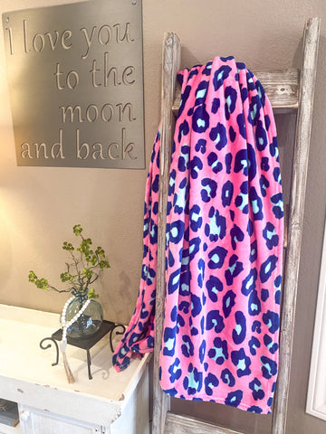 Cozy Up Blanket- Pink Leopard