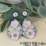 Spring Floral Beaded Earrings