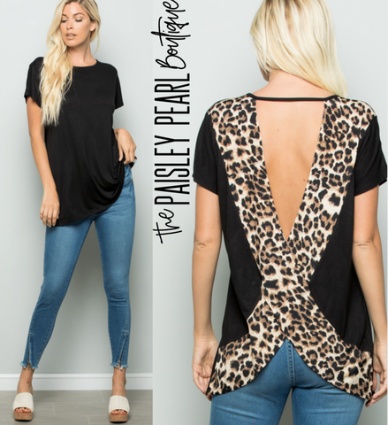 Party In The Back Leopard Top