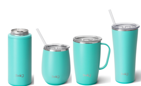 Swig-Matte Aqua Collection