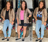 Girl on Fire Leopard Blazer