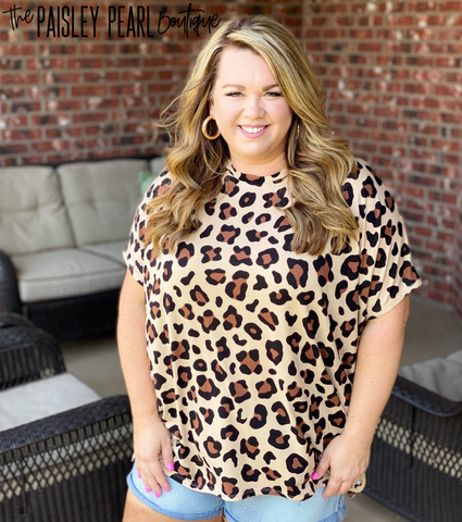 Ezra Tunic Top- LEOPARD