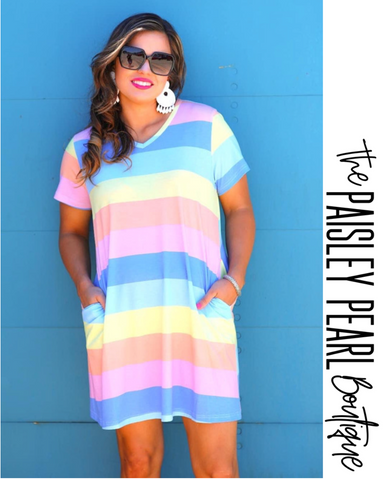 Carly Striped Dress