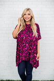 Ezra Tunic Top- Wine Leopard