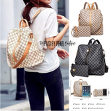 Uptown Gal Backpack & Wristlet