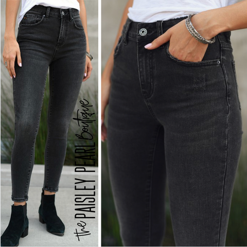 Kimberly Black Denim Jeans