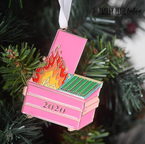 2020 Dumpster Fire Ornament-PREORDER