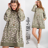 Mya Leopard Sweatshirt Dress/Tunic