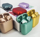 Metallic Wireless Earbuds w/charging case